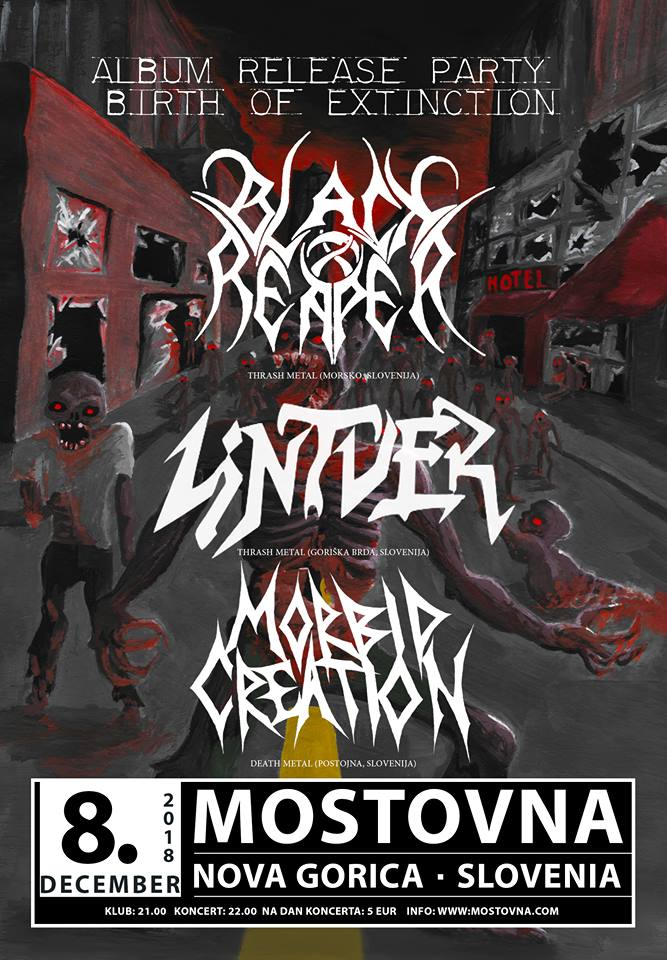 Black Reaper - Release Party + Lintver, Morbid Creation
