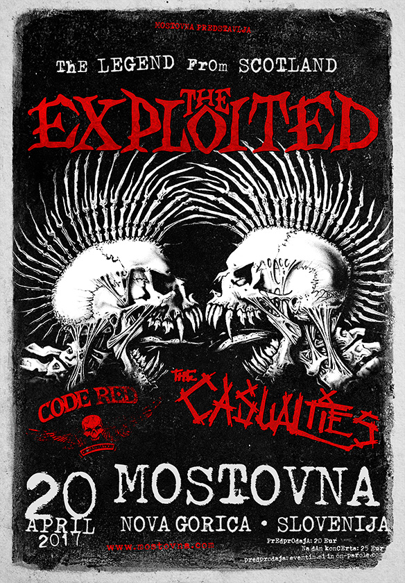 The Exploited, The Casualties, Code Red